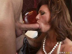 Deauxma is a sexy MILF who can't live without putting juicy ramrod in her mouth