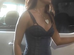 Beautiful honey with sappy boobies gets nailed on the camera