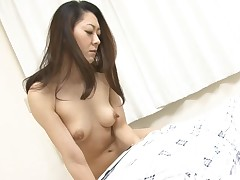 2 men boned hawt Asian mother i'd like to fuck making her suck their weenies on her knees