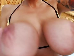 Sinful honey is squirting from strong orgasms from banging