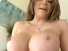 Horny chick with good breasts likes to be double permeated