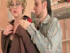 Hot granny sucks and fucks cock